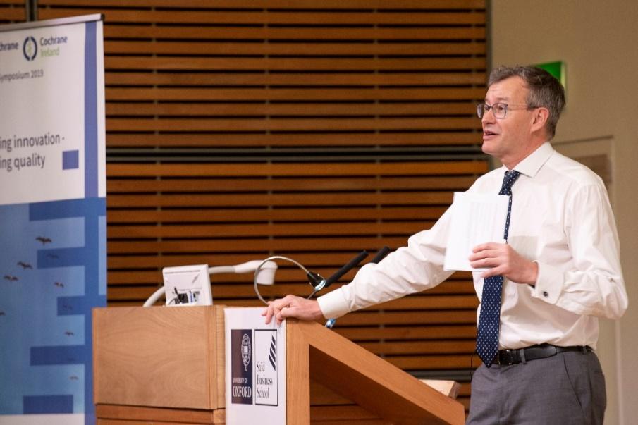 Cochrane UK Director Professor Martin Burton kicks off the symposium